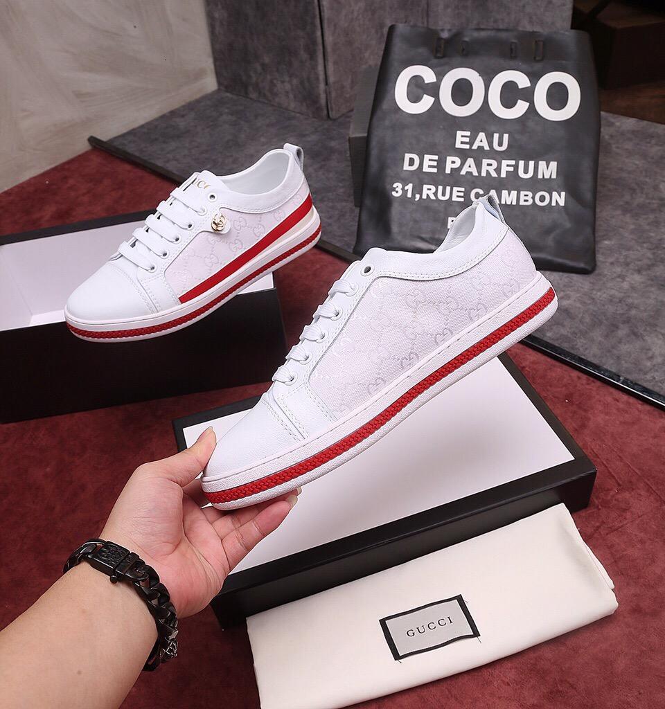 Scarpe razza umana per gli uomini Nero Grigio Bianco Rosso Trainer Sport Sneaker Size