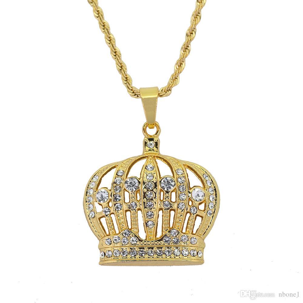2019 Men's Fashion New Trends High Quality Hot Sale Cool Crown Hip Hop Exquisite Pendant Necklace