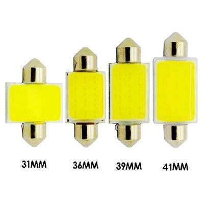 500x31mm 36mm 39mm 41mm FESTOON 12 Cips COB LED Ampul C5W C10W Araba Kubbe Işık Oto İç Harita Çatı Okuma Lambası DC 12 V Beyaz