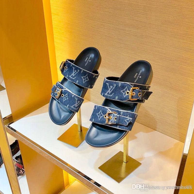 O envio gratuito de chinelos mulheres moda sapatos sandálias de couro cowboy Lazer chinelos antiderrapante clássico Verão chinelo de praia para a mulher