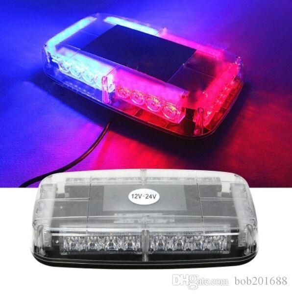 12v del tetto dell'automobile stroboscopio ha condotto la barra Polizia di emergenza Attenzione vigile del fuoco Flash Luci della polizia LED rosso e blu
