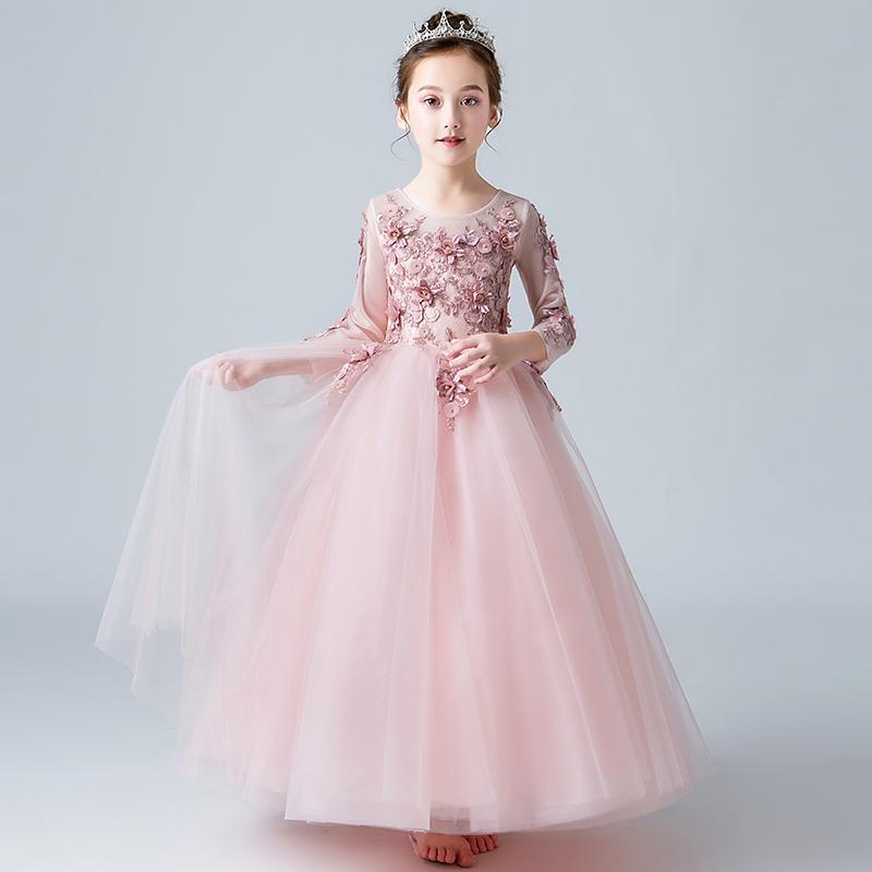 Compre Vestido De Noche Para Niñas Vestido De Noche Para Niñas Niñas Niños Niñas Y Niños A 6834 Del Haianxiang Dhgatecom