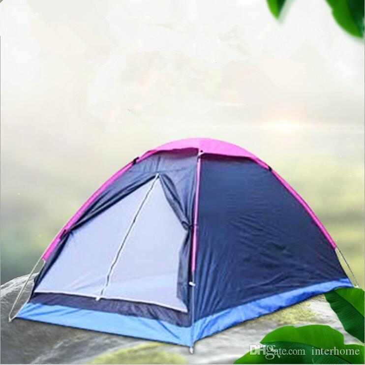 Double Person Tent Single Layer Shelters Beach Park Camping Shelters Tents Rain Proof Oxford Cloth Portable Tents Outdoor Family Tent LT819