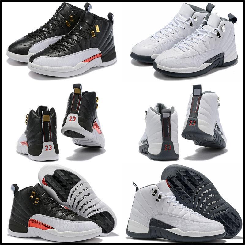 Mens Kids Basketball Shoes XII Jumpman 12 Homens Mulheres 12S Gripe Jogo Francês Azul O Mestre Ginásio Red Taxi Sapatos Esporte Sapato