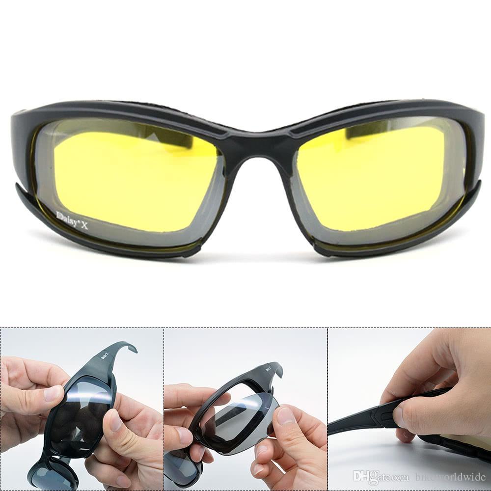 4 Polarized Lens UK Tactical Daisy X7 Glasses Military Goggles Army Sunglasses