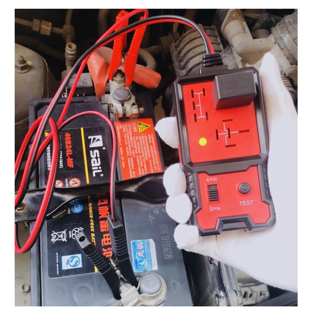 12V Car Battery Fast Checker Electronic Relay Tester Clips Auto Relay Tool UK