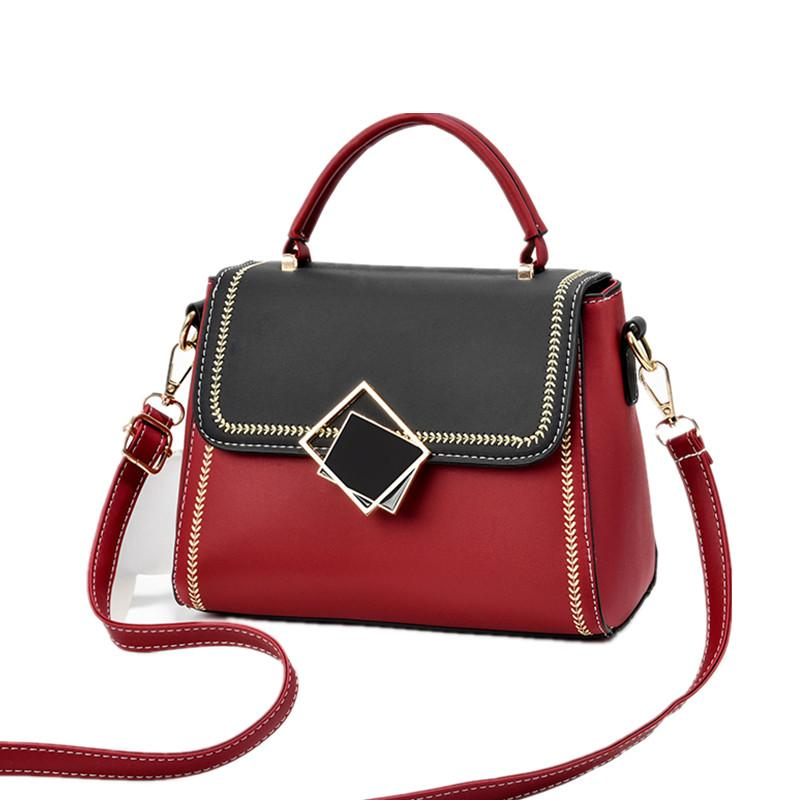 Contrasto Cuoio Donna Colore piccole borse di marca dello stilista di signore sacchetto del telefono spalla ragazze Croce corpo coperto Borse