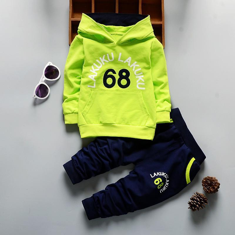 BibiCola bebê meninos roupas outono agasalho roupas infantis hoodies t-shirt + calças roupas de algodão toddle bebe roupas esportivas ternoMX190912