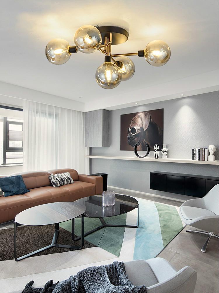 modern ceiling light luxury ceiling lamp living room designer minimalist industrial magic bean glass ball chandelier lighting fixtures