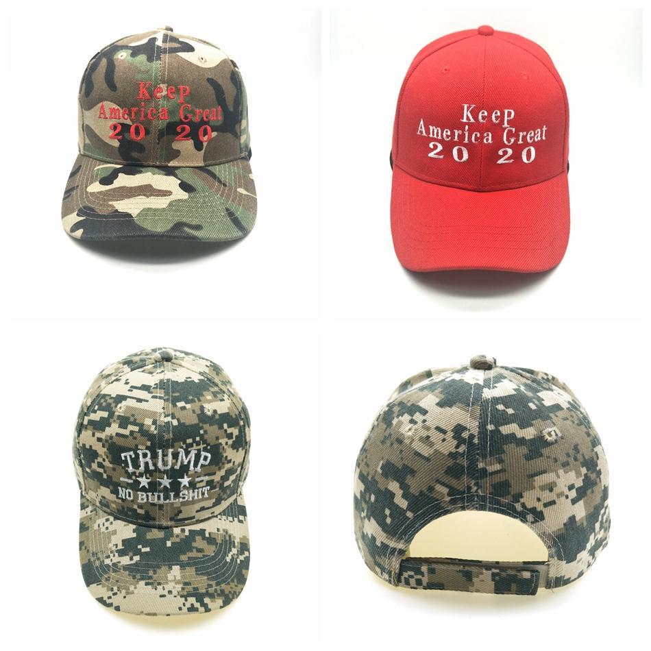 Trump 2020 Baseball Hat 3 Styles Lettre broderie Camo Snapback Chapeaux Casual Trump Snapback Cap LJJO7073-11
