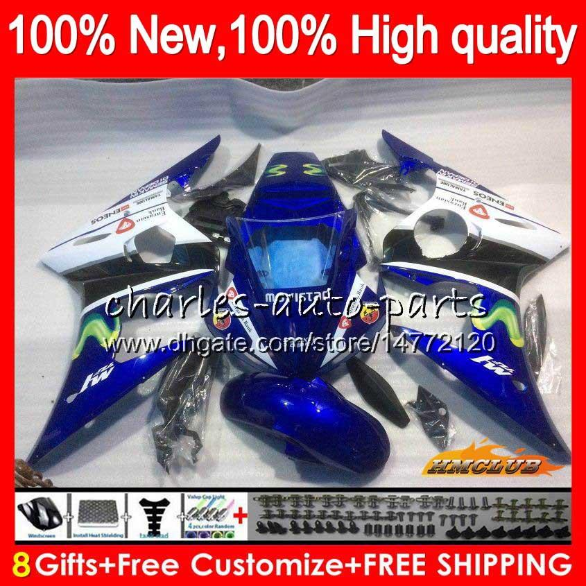 Body Kit For YAMAHA YZF600 Movistar Blue YZF 600 R 6 600CC YZF R6 03-05 59HC.25 YZF-R6 YZF-600 YZFR6 03 04 05 2003 2004 2005 Fairing +8Gifts