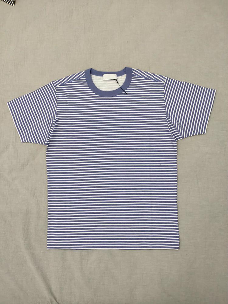 Stripe T Shirt 19ss Marina T-shirt Topstoney Pigmento stampato Immagine uomini e donne Coppia shirt Confortevole Designer HFWPTX366