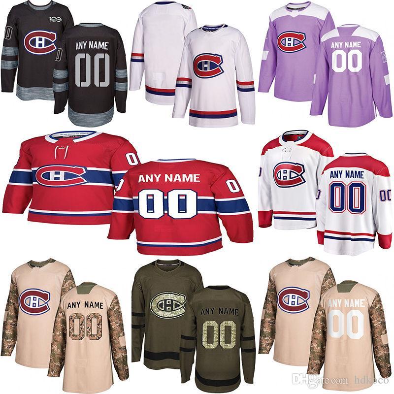 2019 New Montrea Canadiens 하키 유니폼 여러 스타일 Mens Custom 몬트리올 캐나디언 모든 이름 하키 유니폼