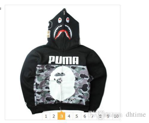 2020 Camo Jackets cabeça do tubarão Imprimir 'Homens Outdoor S camisola de alta qualidade Casual' Homens S Hoodies frete grátis