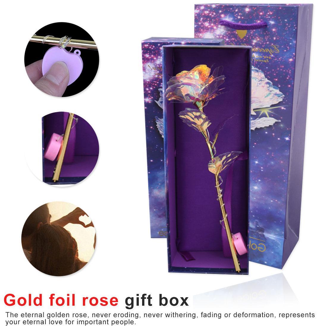 Imitación de alto 24k lámina de oro rosa de regalo de vacaciones regalos actividades del Día de San Valentín es para siempre amor decoración de la boda