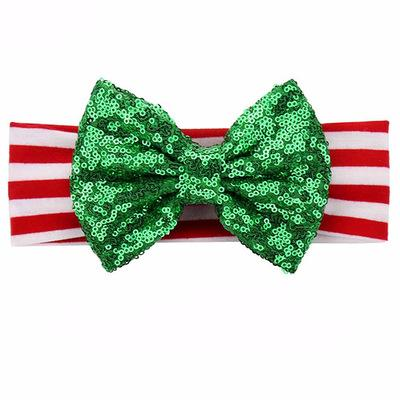 الأطفال طفل الشعر الفرقة عيد الميلاد الفتيات طفل بريق عصائب الخضراء الأطفال التألق الأحمر سانتا اكسسوارات للشعر الأطفال عقال EEA706