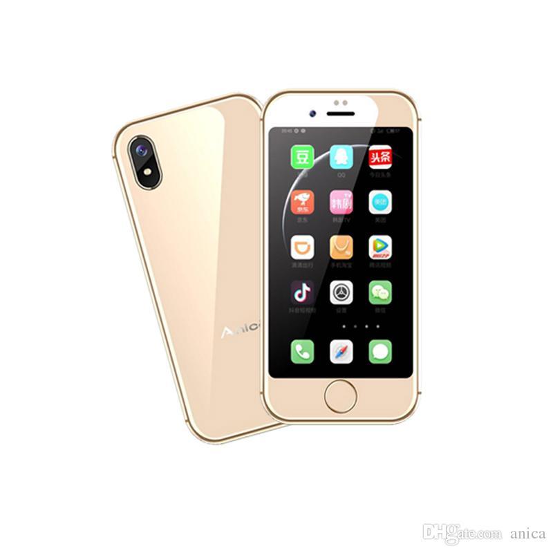 "ANICA i8 2.5"" MTK6580 2GB+16GB GPS WIFI Mini Whatsapp Smartphone Google Play Android Cell Phones Unlocked 32GB TF free videos mobile phones"