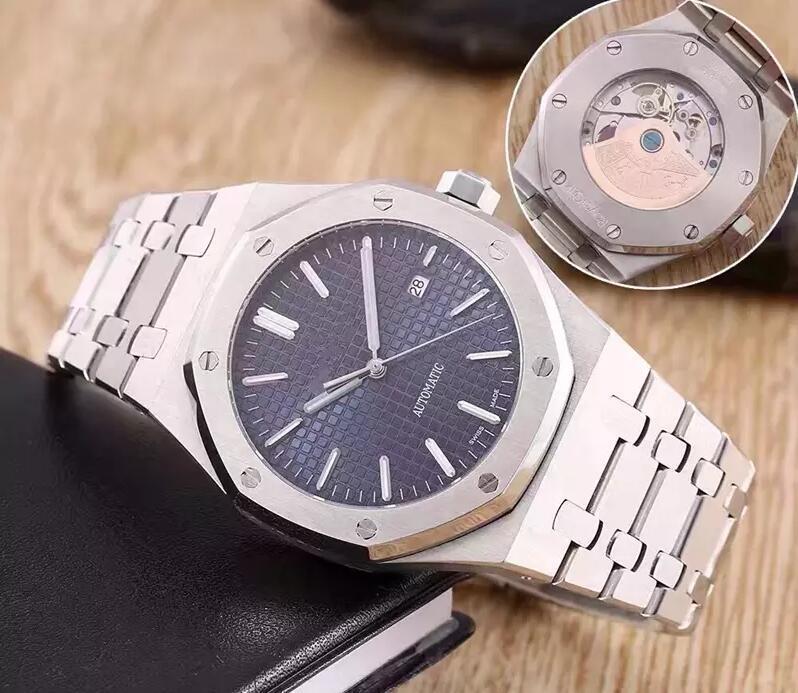 8 estilos Homens clássico do estilo de moda Relógio Para 42 milímetros de aço inoxidável Correia de alta qualidade Movimento automático de pulso Sapphire 15400ST