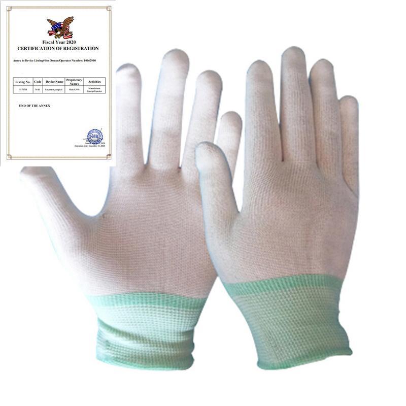 1pair Antistatik Eldiven Elektronik Eldiven Antistatik Toz içermeyen İnce Bölüm Örme Eldiven Koruyucu Koruyucu Eldiven giyin
