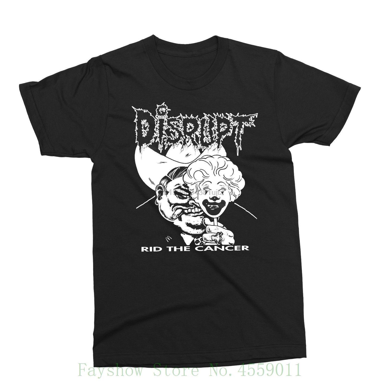 Perturber - Le cancer Rid - Punk Crust Grind Destroy Code 13 Skit système Phobie Nouveau 2018 Summer Fashion