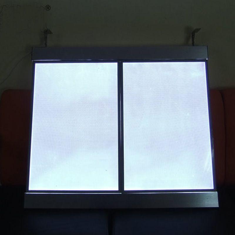 (2 graphiques / colonne) Panneaux de panneau de menu à DEL illuminés à simple face, boîte à lumière à DEL pour menu, restaurant, café