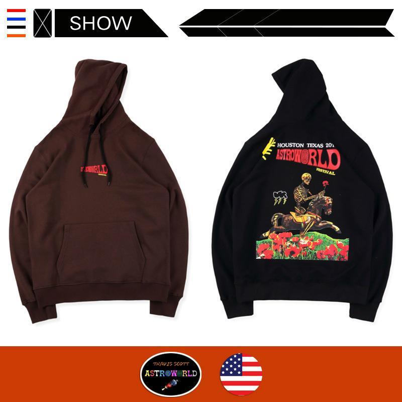 Oferta limitada Travis Scott Astroworld capuz camisola designer high street maré ins hoodies Festival Hoodie do crânio para homens e mulheres