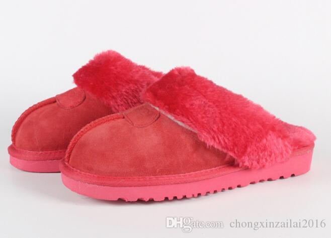 ботинки высокого качества Теплые тапочки хлопка Мужчины и женская тапочки Короткие сапоги Женские сапоги снег Дизайнерские Крытый тапочки хлопка размер 34-45
