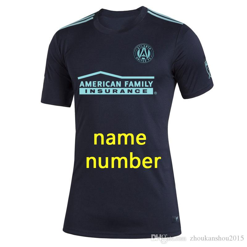 Parley MLS Atlanta United Fc Jerseys Футбольная футболка футбольная футболка 19 20 мл Parley Atlanta United Jerseys Martinez Футбол S-4XL