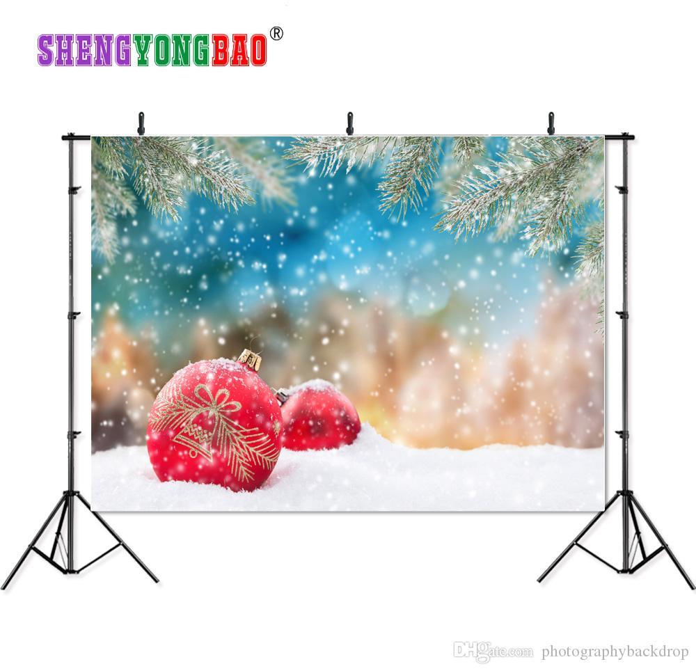 Shengyongbao Vinilo Fotografía Personalizada Telones de fondo Prop digital impreso horizontal tema del día de Navidad Foto Estudio Fondo JLT-11360