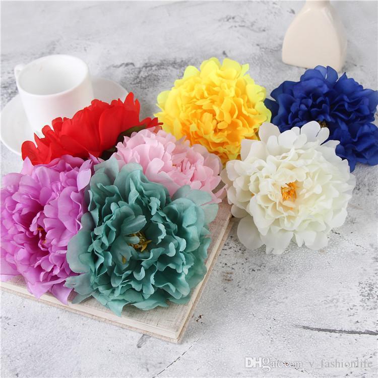 Künstliche Blumen Silk Pfingstrose-Blumen-Köpfe Hochzeit Dekoration Supplies Simulation gefälschte Blüte Hauptdekorationen