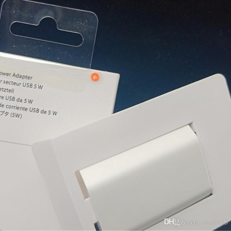 50pc / lot Qualität A1385-A1400 US-EU-Stecker USB-Wechselstrom-Adapter-Wand-Ladegerät für iPhone x plus mit Verpackung DHL geben