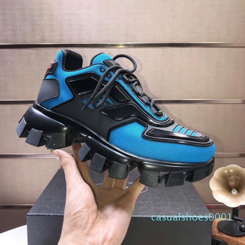 2020 Mens de la llegada Cloudbust trueno de punto de las zapatillas de deporte de cuero de lujo de gran tamaño de la zapatilla de deporte de luz suela de goma 3D Formadores para mujer del tamaño grande 36-46 c01