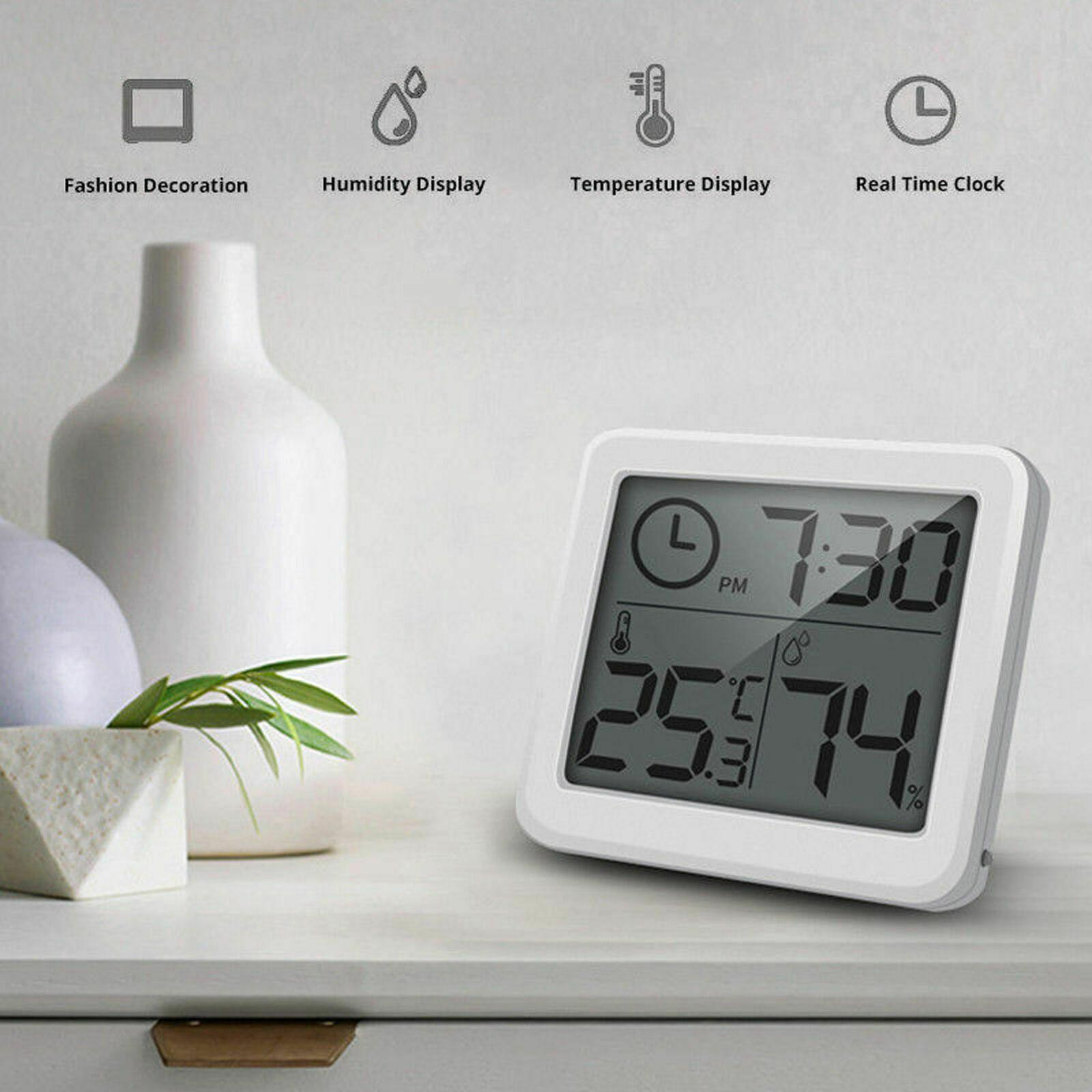 Good LCD Digital Alarm Clock Thermometer Temperature Humidity Hygrometer Meter Home Office Table Desk