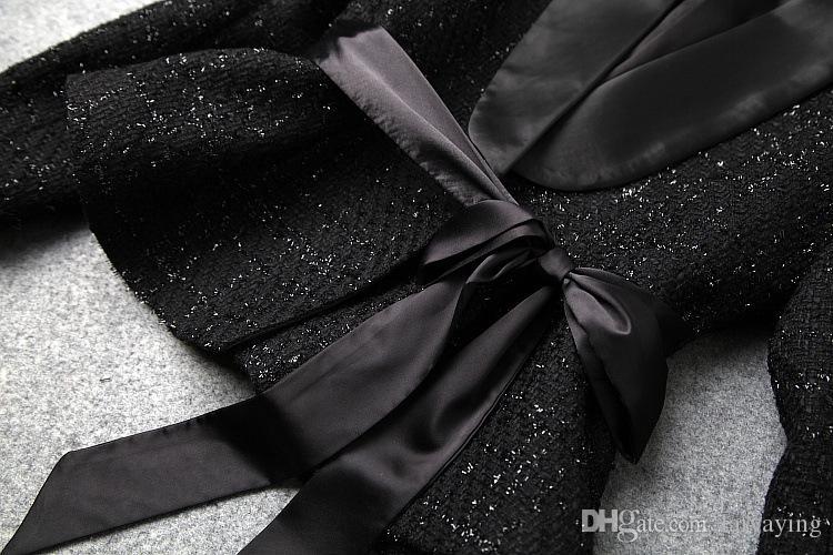 2018 78 Neu Großhandel Langarm Fliege Anzug MantelShorts Von Auf Und Winterkleidung Laiyaying75 Tweed Damen Amerikanische Europäische Mode OulkiXZwPT