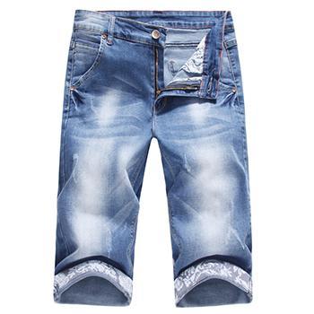 Mode Großhandel Großhandel Männer Shengui Shorts 2016 Männer Ankunft Hellgrau Von Gewaschen Denim Für Shorts Wasser Herren Jeans Neue Jeans Gerade ZTwkuOPXi