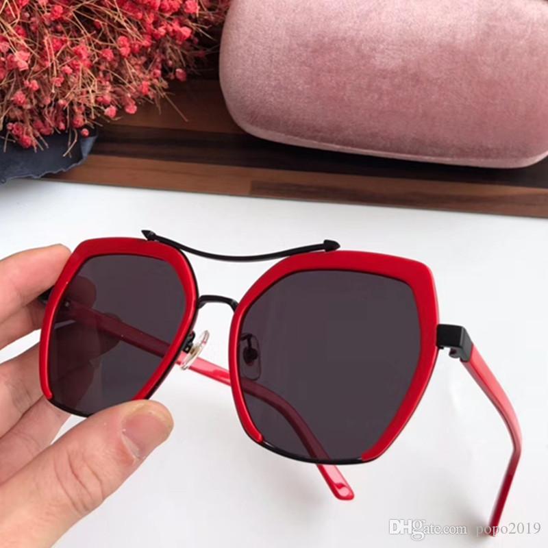 نظارات شمسية فاخرة المصممات الشعبيات ميدان الأزياء الكبير نصف إطار نظارات شمسية أسلوب نساء الموضة يجيء بالحقيبة الوردية