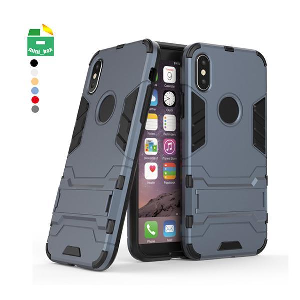 2 в 1 TPU + PC обложка противоударный чехол телефона Стенд держатель для iPhone X XS MAX XR 6 6S 7 8 Plus