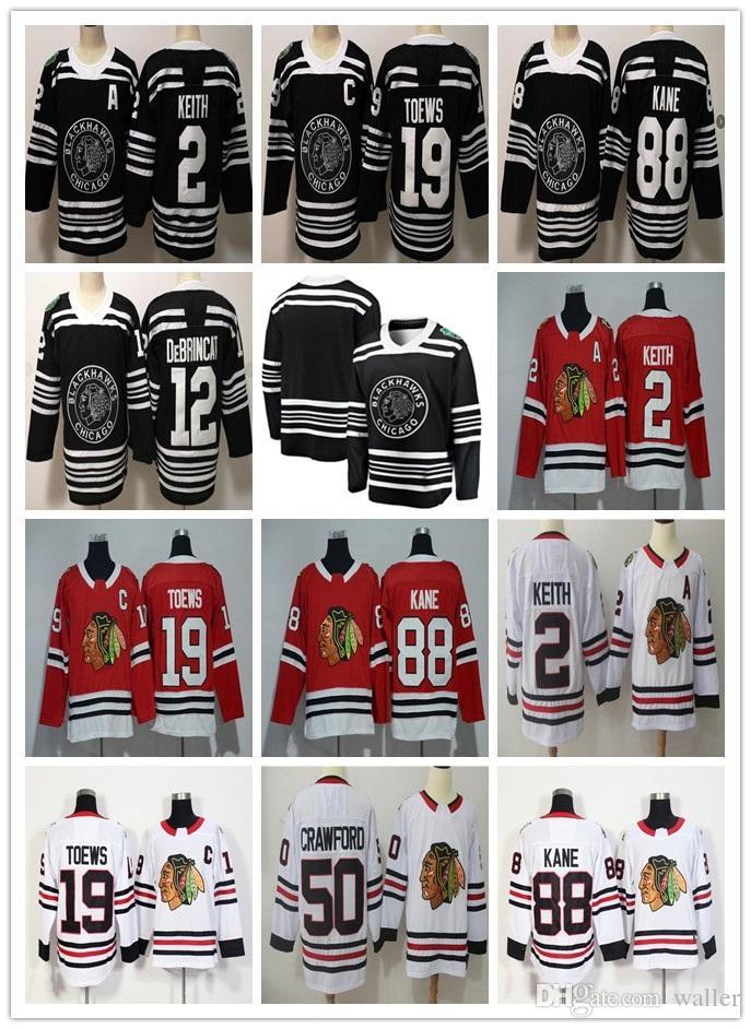 Herren-Trikots 19 Jonathan Toews 88 Patrick Kane 2 Duncan Keith 14 Richard Panik 20 Brandon Saad 50 Crawford Hockey-Trikot