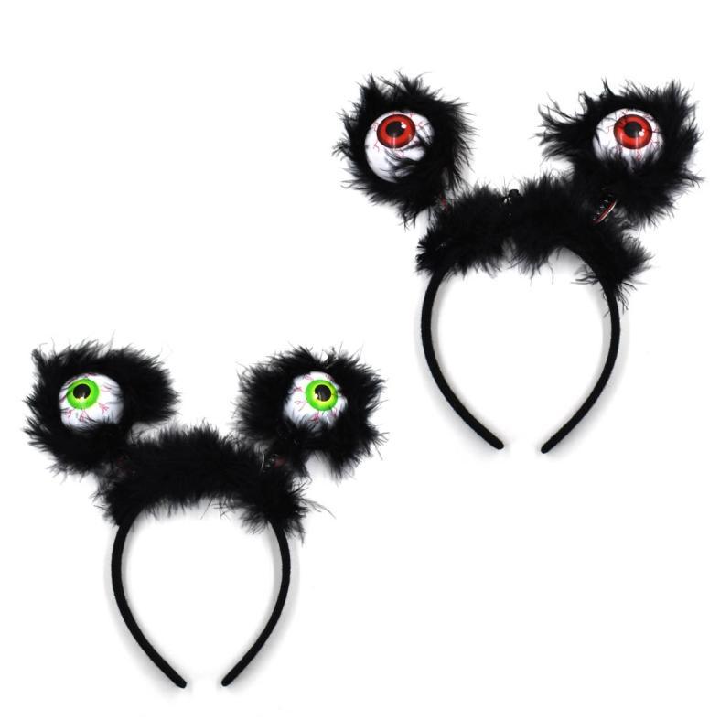 Halloween Hoop 2020 2020 2020 Halloween Horror Hair Bands Terrorist Eyes Hair Hoop LED