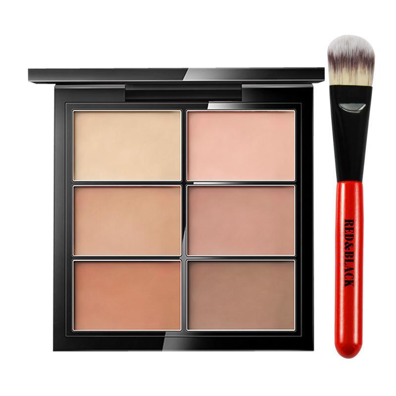 Red&black Face Concealer Makeup Palette +brushes Face Base Foundation Bronzer Concealer Contour Pallete Make Up Cosmetics