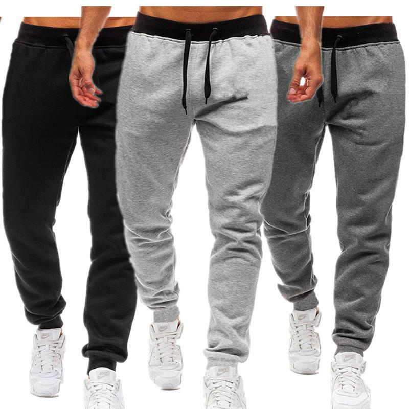 Designer 2020 men's sports pants men's solid color large size casual pants sports casual Free shipping on high-quality designer clothing