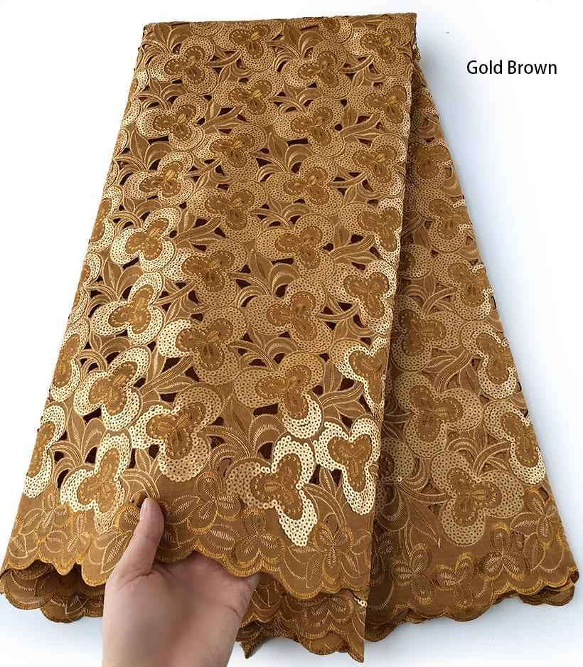 5 yards shiny African Handcut Organza Lace fabric beautiful Nigerian Ghana sewing clothes lots of sequins high quality hot sale