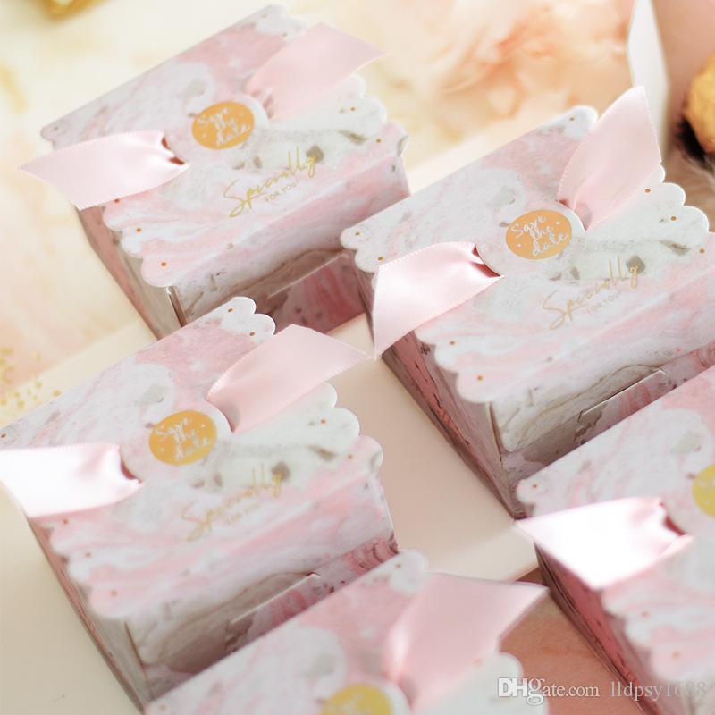 Düğün Şeker Kutusu Favor ve Hediye Kutusu Düğün Dekorasyon için Tatlı Kağıt Torbalar Bebek Duş Doğum Günü Olay Parti Malzemeleri