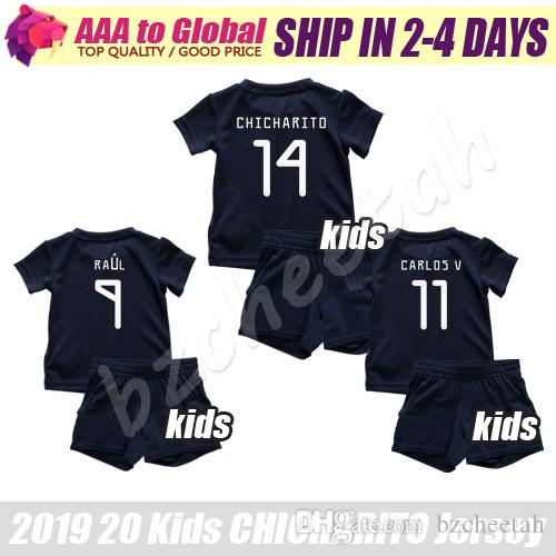 Çocuklar Meksika forması kiti 2020 Çocuk Chicharito HERNANDEZ Futbol formaları CARLOS VELA H.LOZANO M.LAYUN RAUL genç futbol gömlek seti