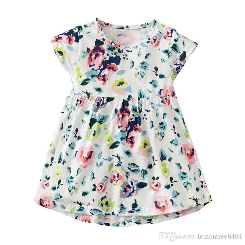 8942986b121 Vestidos de verano para niñas de 2-7 años en el norte de Europa trajes ...
