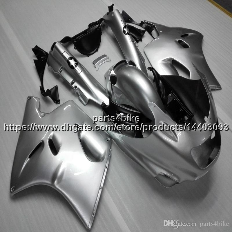 5Gifts ABS silver Fairing For Kawasaki ZX-11 ZZR1100 1990-2001 1991 1992 1993 1994 1995 1996 1997 1998 1999 2000