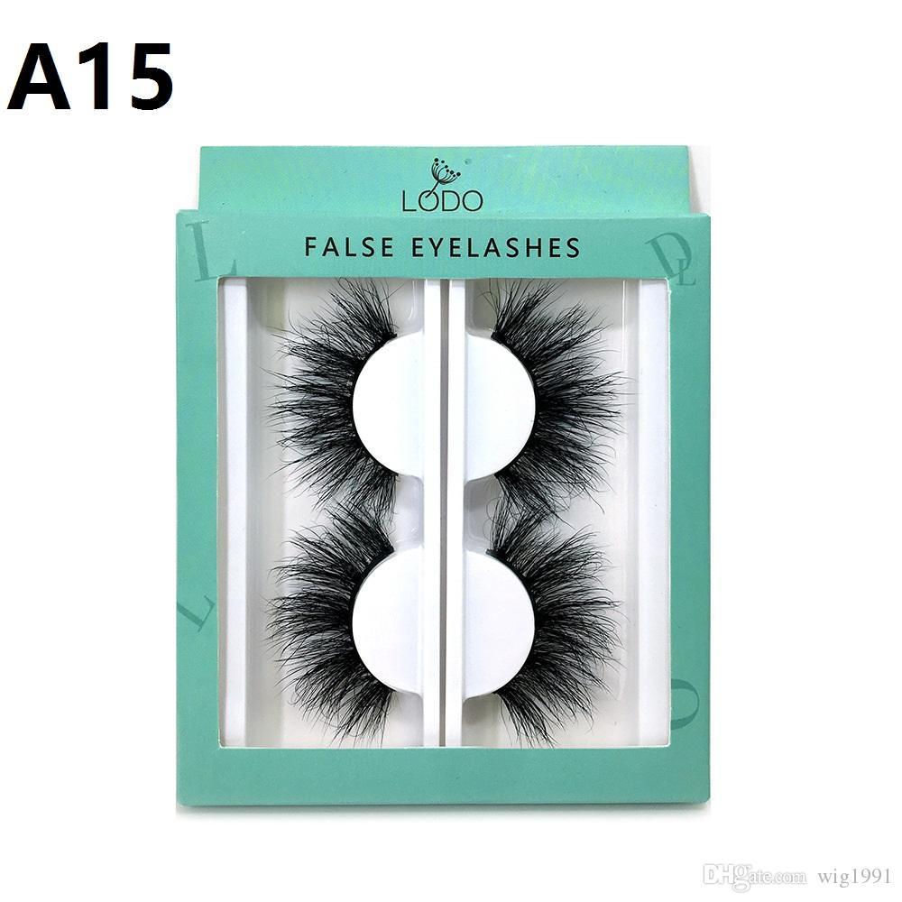 2 Pairs 3D Cílios Natural Longo e Grosso Handmade Lashes Maquiagem Extensão Do Cabelo para Os Olhos Estilos Populares venda Quente