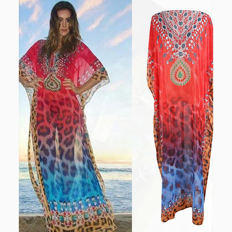 غطاء شفاف السباحة فساتين تصل للشاطئ المرأة ملابس الشاطئ ثوب السباحة التكتيم Coverups للمرأة ثوب السباحة