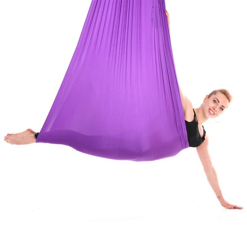 Free Shipping 2.8m Durable Elastic Aerial Yoga Hammock Swing Fitness Training Accessory Fit For Yoga Professional And Beginners
