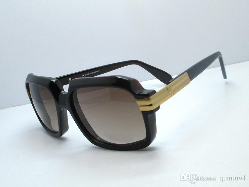 607 hombres gafas de sol de oro cuadrado negro Sonnenbrile hombre de la moda gafas de sol gafas de protección UV Sombras de Nueva wth Box